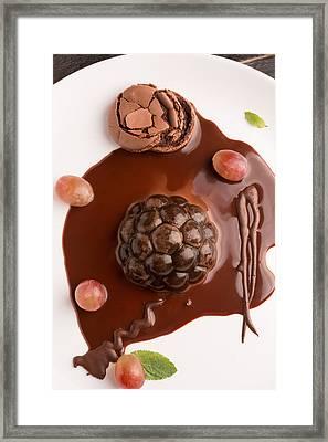 Chocolate Dessert  Framed Print by Vadim Goodwill