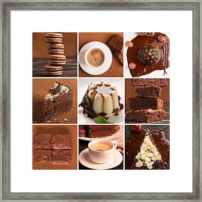 Chocolate Desserts And Sweets Framed Print by Vadim Goodwill