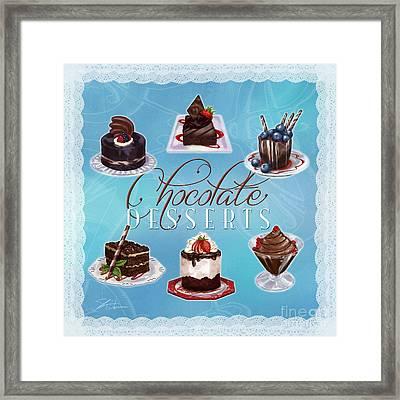 Chocolate Desserts Framed Print by Shari Warren