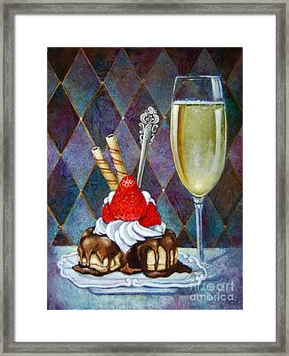 Chocolate Drenched Eclair  Framed Print by Geraldine Arata