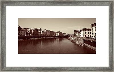 Chocolate Florence Framed Print