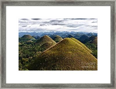 Chocolate Hills Framed Print by Joerg Lingnau
