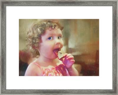 Chocolate Ice Cream Framed Print by Nikolyn McDonald