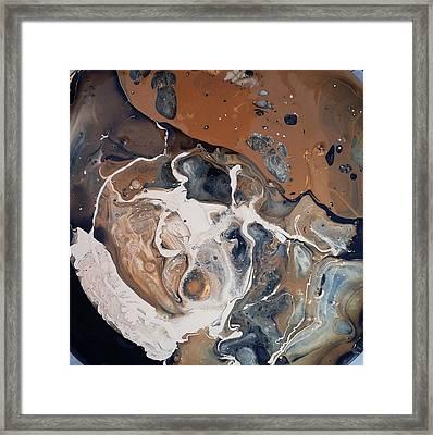Chocolate Ice Cream Vulture Beek Framed Print by Gyula Julian Lovas
