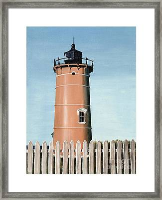 Chocolate Lighthouse Framed Print