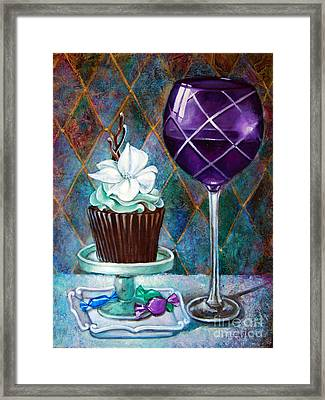 Chocolate Mint Cupcake Framed Print by Geraldine Arata