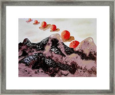Chocolate Mountains Framed Print by Evguenia Men