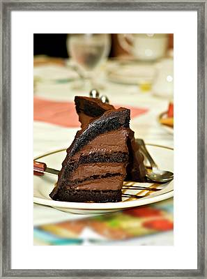 Chocolate Mousse Cake Framed Print by Carolyn Marshall