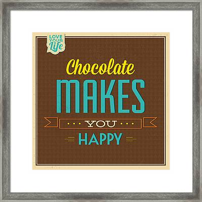 Chocolate Framed Print by Naxart Studio