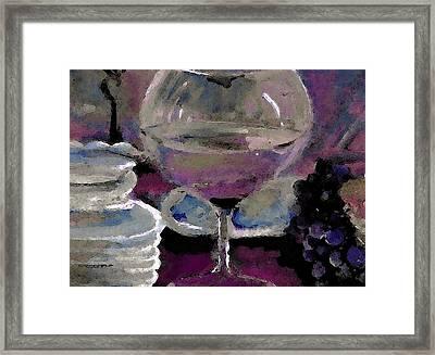 Chocolate Pie And Wine Framed Print