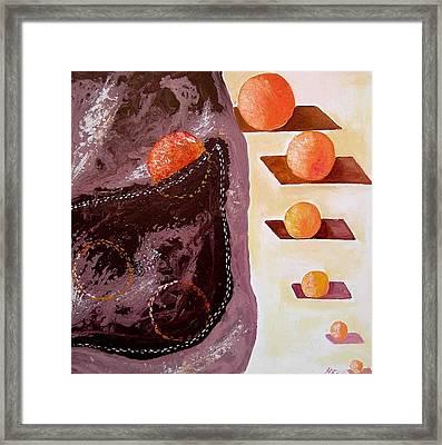 Chocolate Pocket Framed Print by Evguenia Men