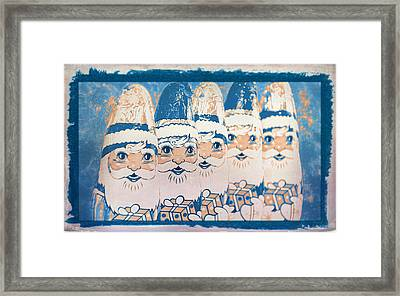Framed Print featuring the photograph Chocolate Santas by Bellesouth Studio