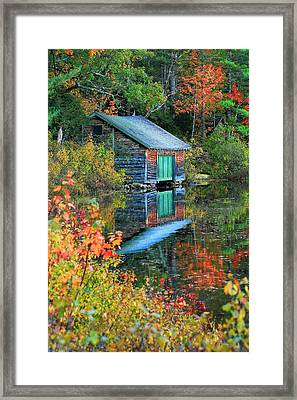Chocorua Boathouse Framed Print