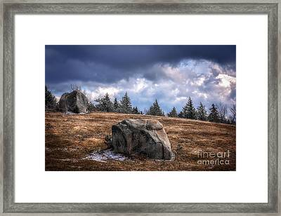 Chocorua Erratics Framed Print by Scott Thorp