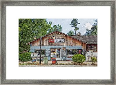 Choctaw Bluff Country Store Framed Print by Ericamaxine Price