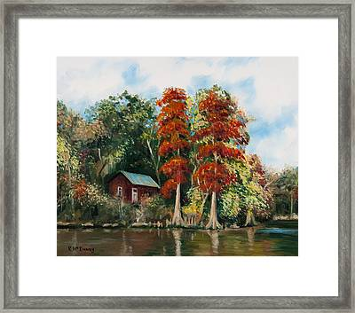 Choctawhatchee River Camp Framed Print by Rick McKinney