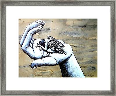 Choice Between Lightness And The Commitment With The Weight Of The Freedom Framed Print by Paulo Zerbato