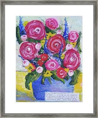 Choice Bouquet Framed Print