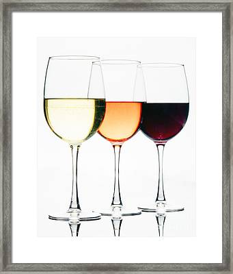 Choice Of Wines Framed Print by George Oze