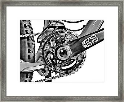 Framed Print featuring the digital art Choice Transport 1 Bw by Wendy J St Christopher