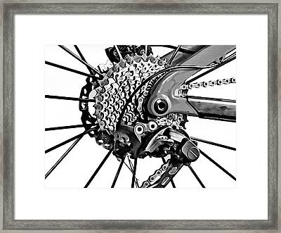 Framed Print featuring the digital art Choice Transport 2 Bw by Wendy J St Christopher