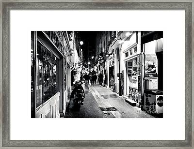 Choices In The Latin Quarter Framed Print