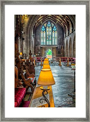 Choir Lamps Framed Print by Adrian Evans