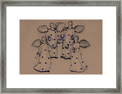 Choir Of Angels Framed Print by Joy Lions
