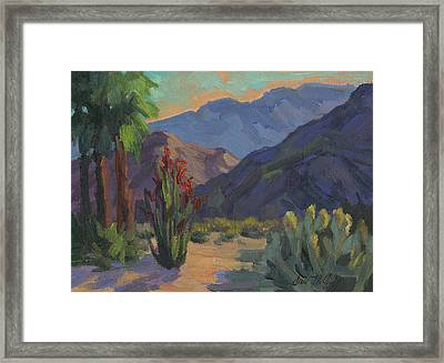 Cholla At Smoketree Ranch Framed Print by Diane McClary