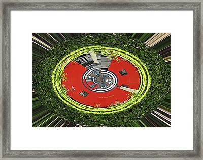 Choo Choo Caboose In The Round Framed Print by Marian Bell