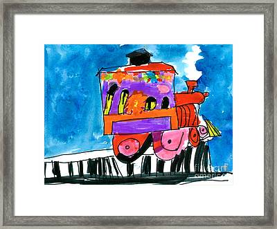 Choochoo Train Framed Print
