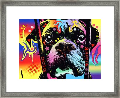 Choose Adoption Boxer Framed Print