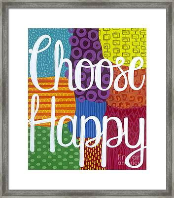 Framed Print featuring the painting Choose Happy by Carla Bank