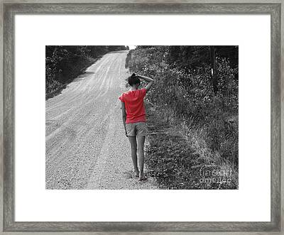 Choose Your Own Path Framed Print by Cathy  Beharriell