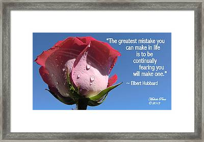 Choose Your Quote Choose Your Picture 24 Framed Print