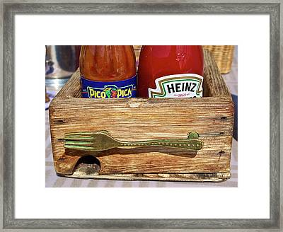Choose Your Weapon Framed Print by Gwyn Newcombe