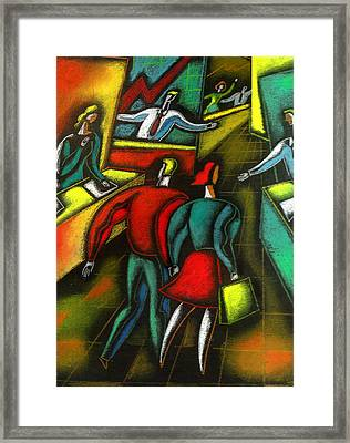 Choosing And Investing Framed Print by Leon Zernitsky