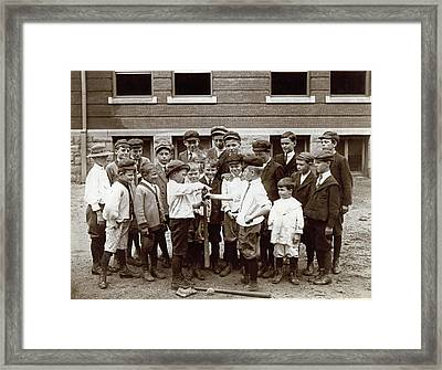 Choosing Baseball Teams Framed Print