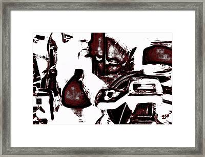 Chop Saw Chicken Abstract Framed Print by Gina O'Brien
