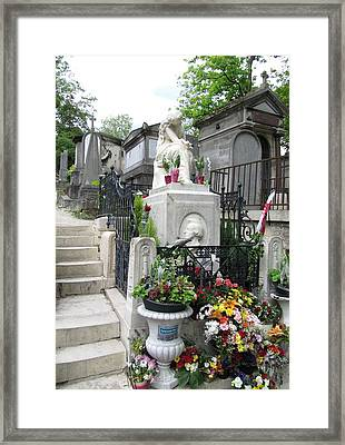 Chopin Grave Paris Framed Print by Keith Stokes