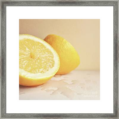 Chopped Lemon Framed Print