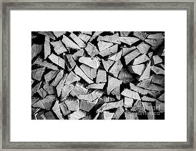 Chopped Wood Framed Print