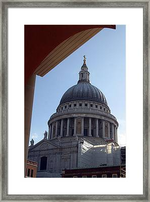 Framed Print featuring the photograph Chopping St Pauls by Jez C Self