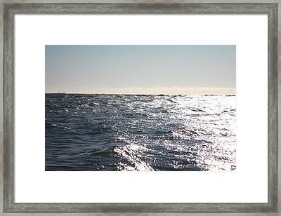 Choppy Ocean Fishing Waters Framed Print by John Telfer