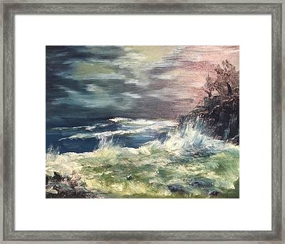 Choppy Seas 1 Framed Print