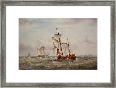 Choppy Waters Framed Print by Henry Redmore
