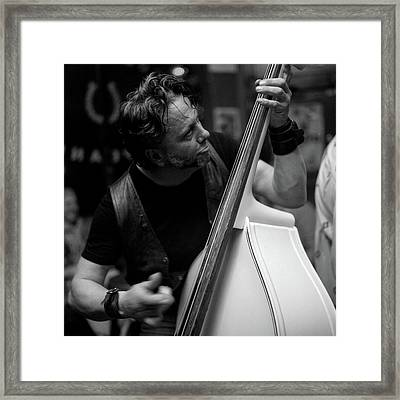 Chops On Bass Framed Print by Chad Schaefer