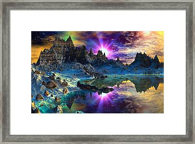 Chosen Hills Sunrise Framed Print by David Jackson
