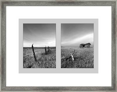 Choteau Diptych Framed Print by Leland D Howard