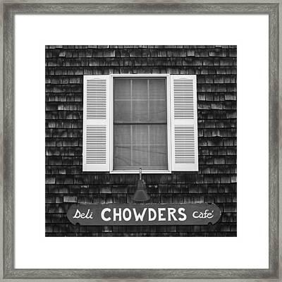 Chowders Cafe Framed Print